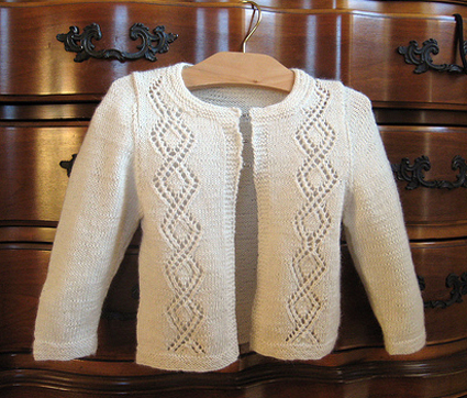 Easy Lace Sweater Knitting Pattern For Toddler Child