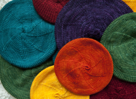 Easy Baby Knitting Patterns Windmill Beret